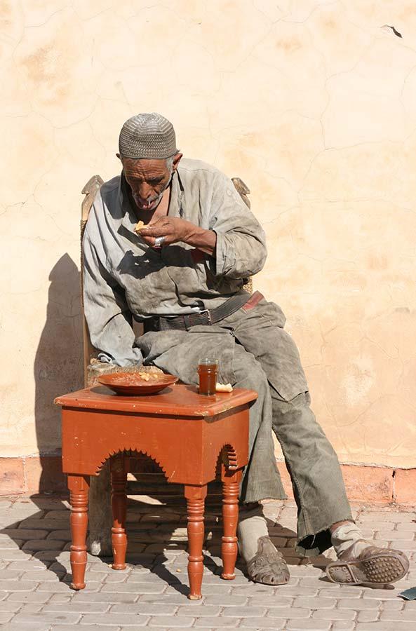 Straat tafereel in Oman