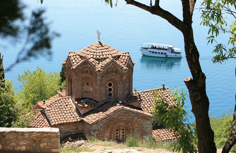 Het meer van Ohrid in Macedonië