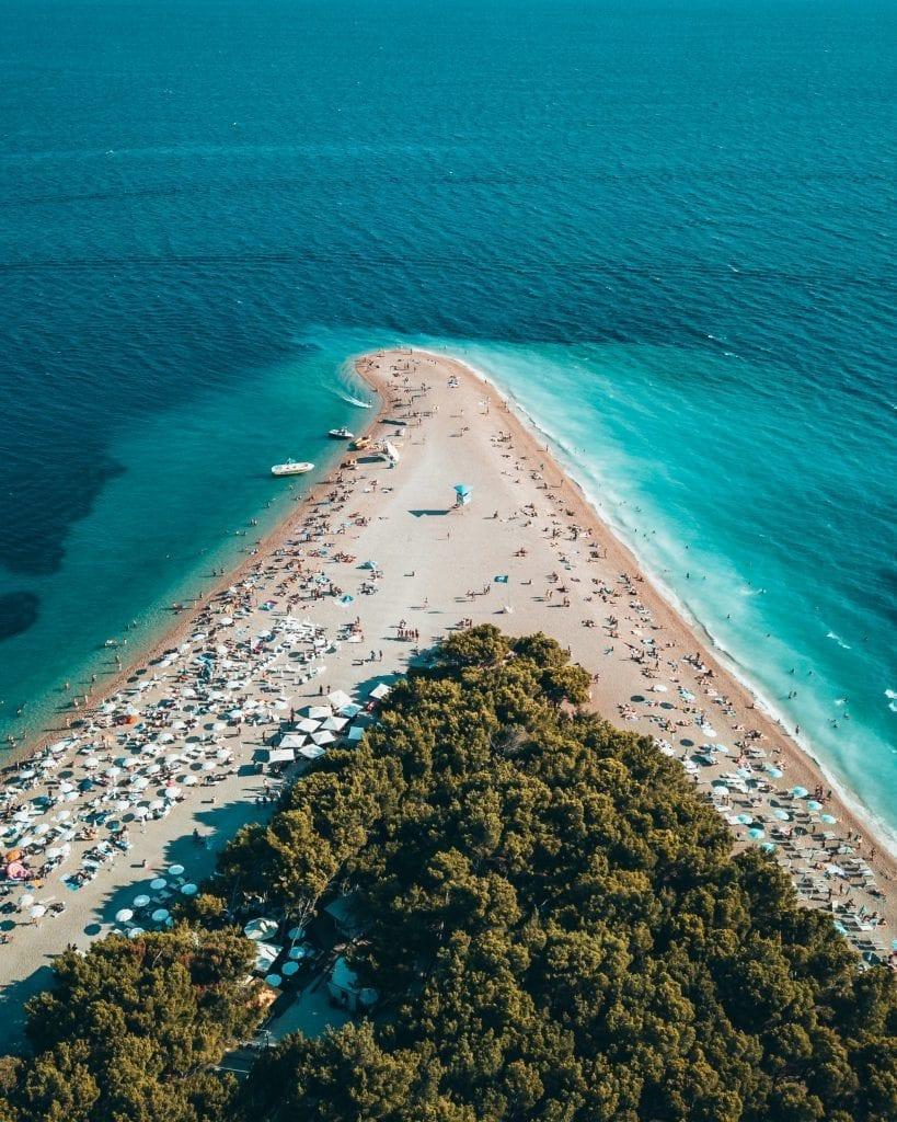 Dit is Brač, een van de eilanden van Kroatië