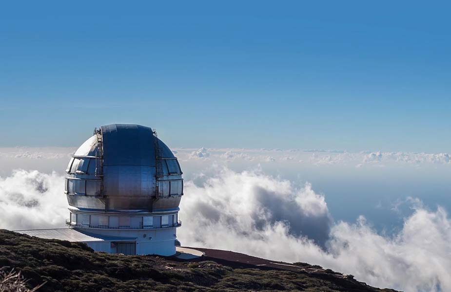 De grote telescoop op La Palma
