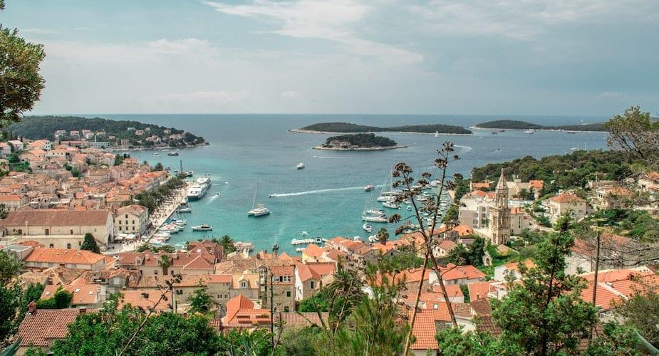 Hvar eiland kust Kroatië Triptalk