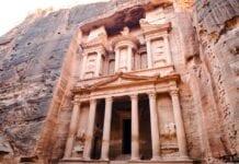 Jordanië Petra oudheid rotsen
