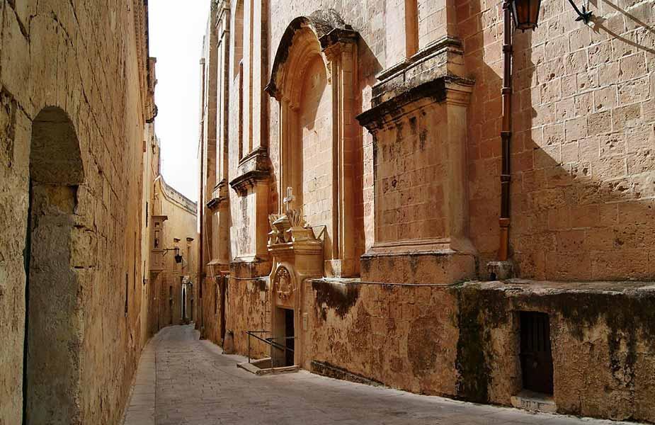Historische kerk in Valletta op Malta