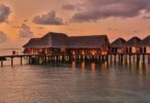 Waterbungalows van hotel Malediven