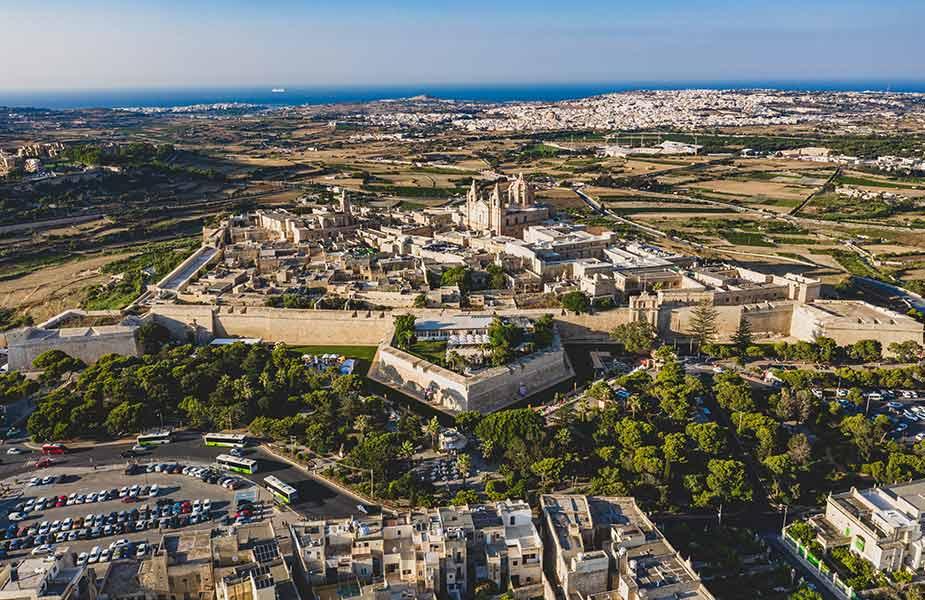 Het historische stadje Mdina op Malta