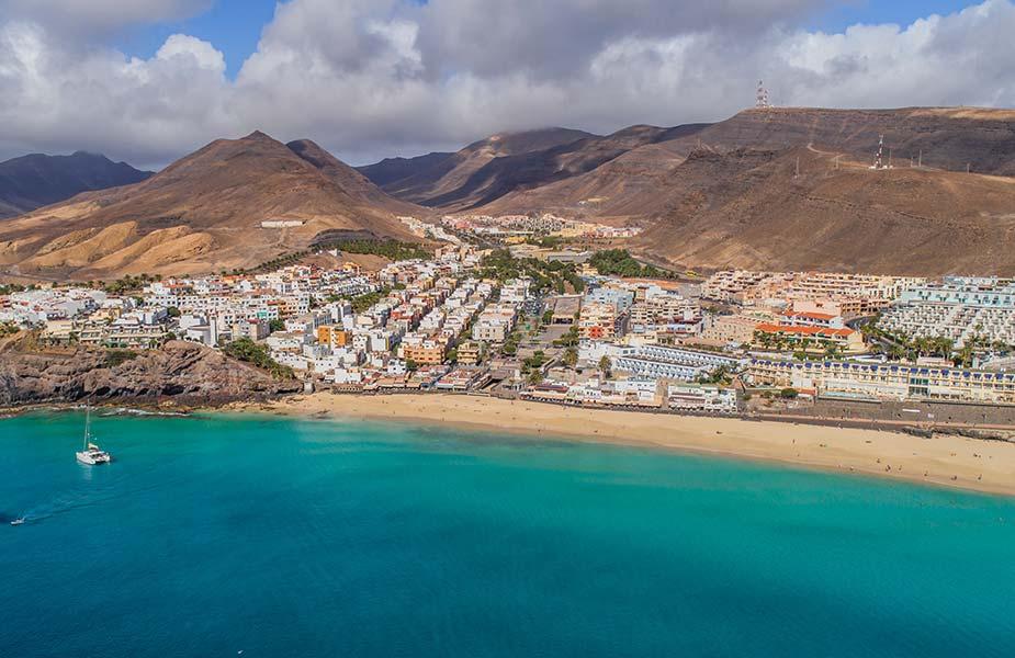 Strand bij Morro Jable en een stukje van Jandia