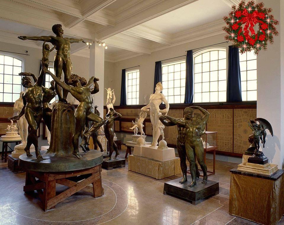 Deel van de collectie in het museum in Rome
