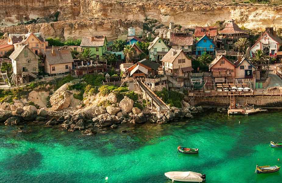 Het Popeye Village dorpje op Malta