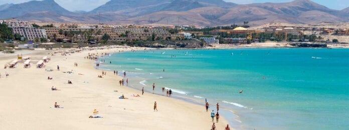 Strand in het zuiden van Fuerteventura