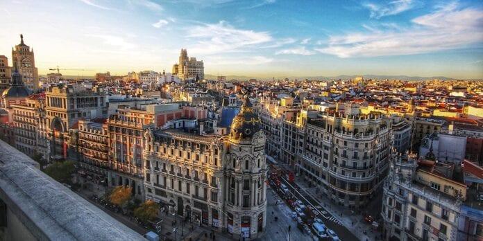 Zicht op centrum van Madrid