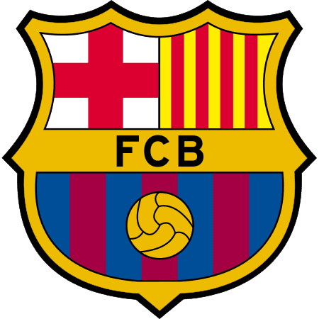 Het logo van FC Barcelona