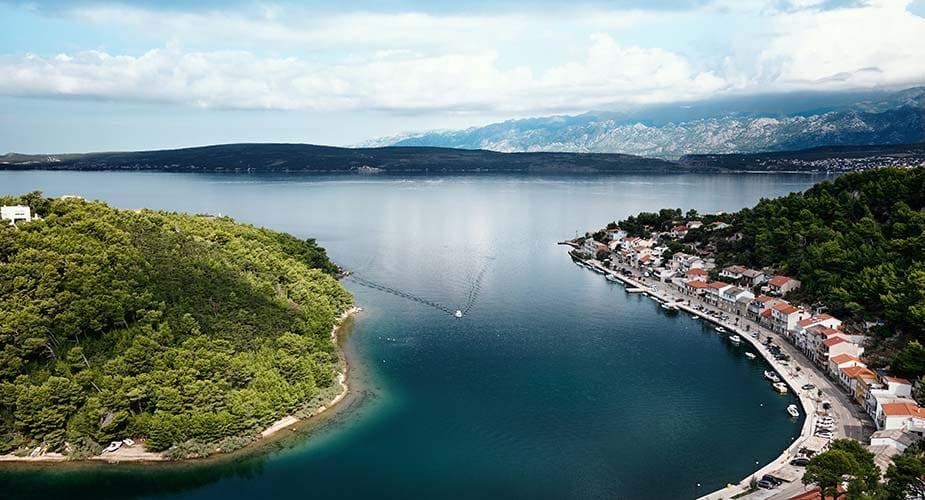 kust bij kroatie