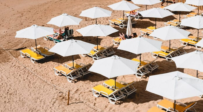 stranden bij Lissabon