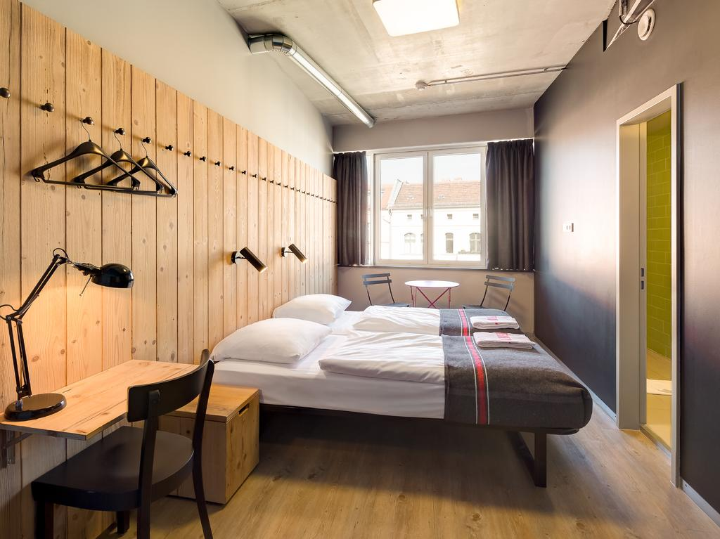 Interieur van een slaapkamer in Generator Mitte