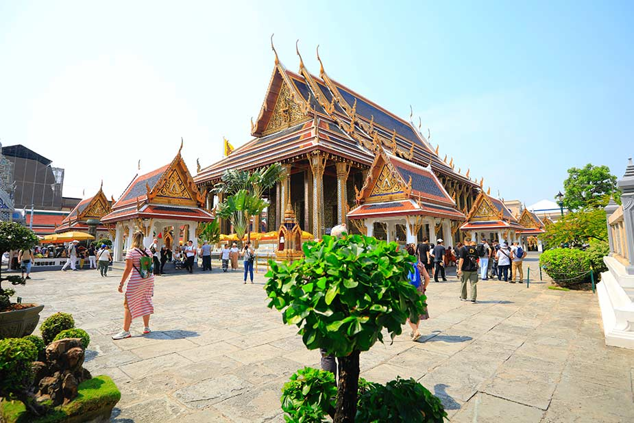 De Grand Palace tempel in Bangkok