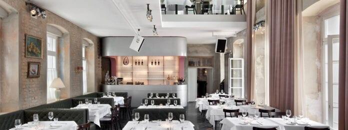 Het mooie interieur van The Grand Restaurant in Berlijn
