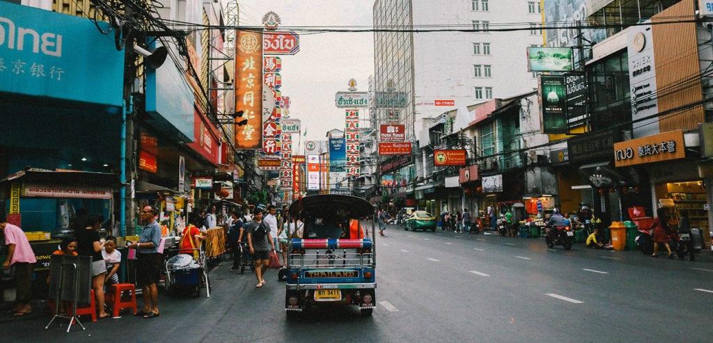Straatbeeld in Bangkok
