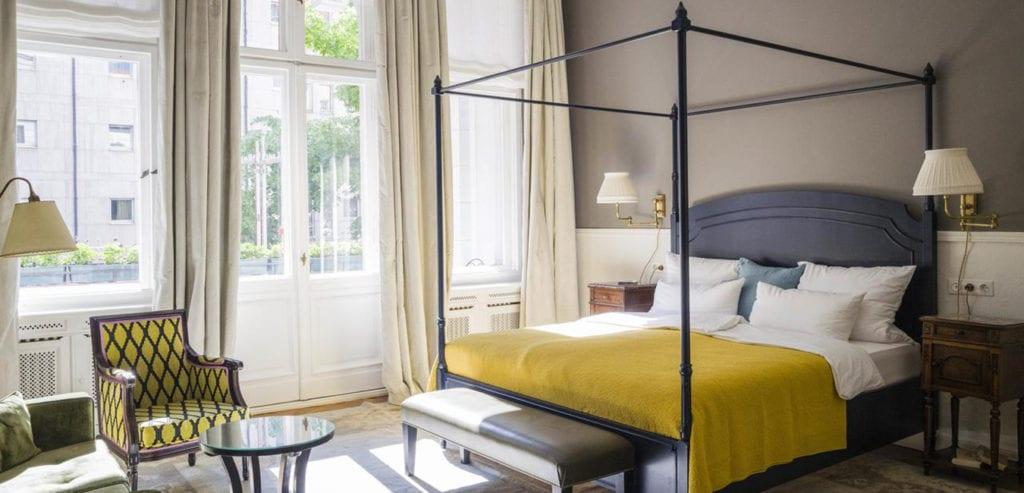 Slaapkamer van Hotel Henri in Berlijn