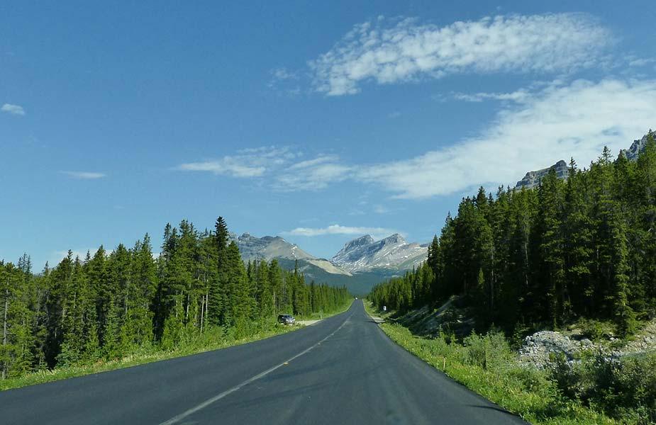 Het mooie uitzicht op de Icefield parkway in Canada