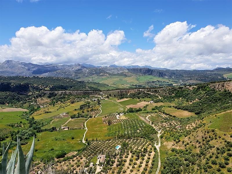 Uitzicht op vallei bij Ronda