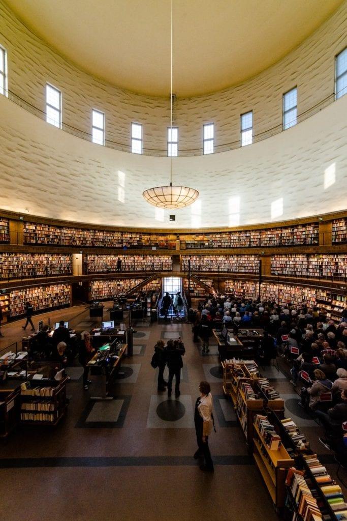 Rotunda in stadsbibliotheek Stockholm
