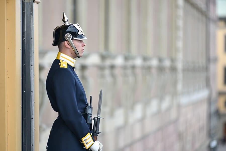 Soldaat bij het Koninklijk Paleis in Stockholm