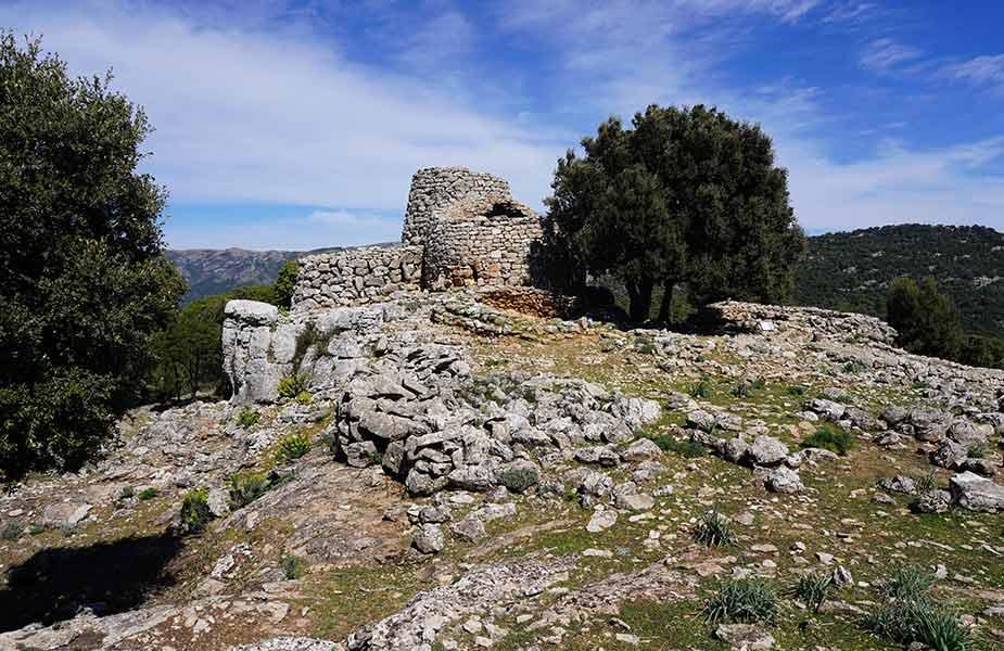 De oude bouwwerken op Sardinië