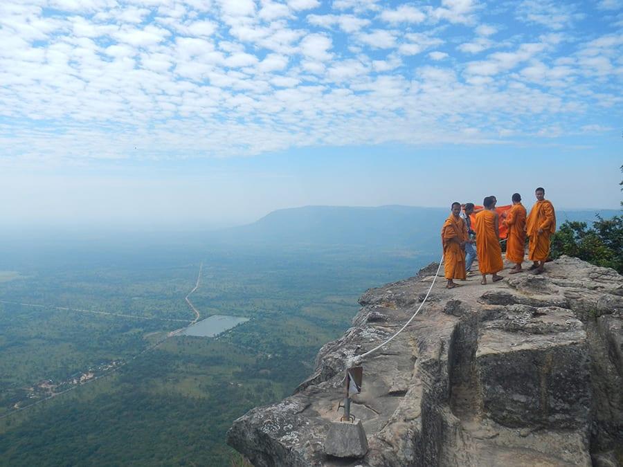 Monniken op rots