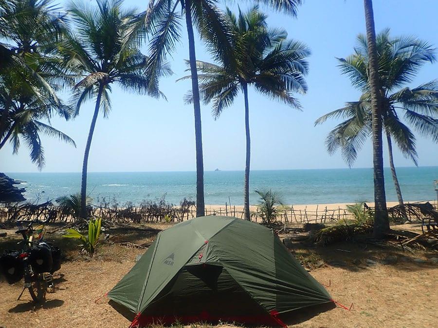Tent slapen