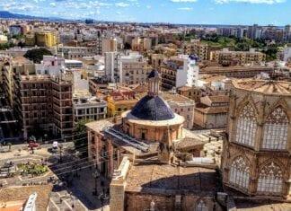 Uitkijk op centrum Valencia