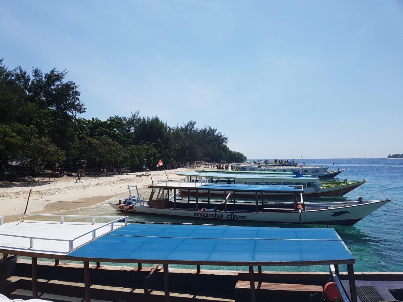 prachtige stranden op Gili trawangan