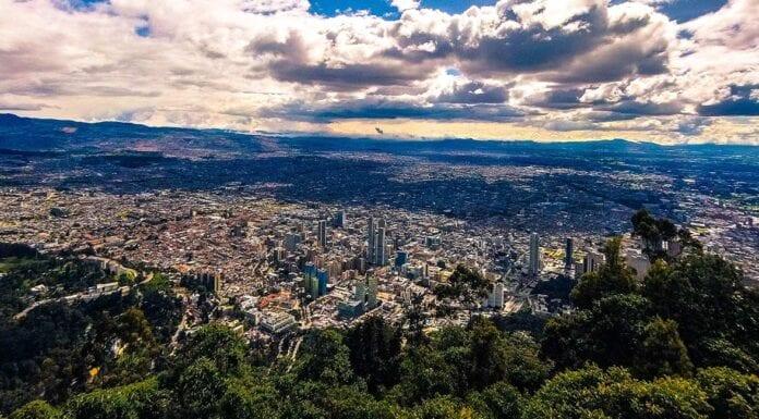 Uitzicht op Bogota in Colombia
