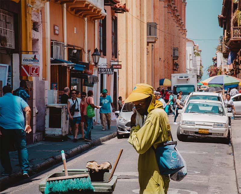 Op reis door Colombia, een straat tafereel