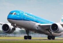 KLM opstijgend vliegtuuig
