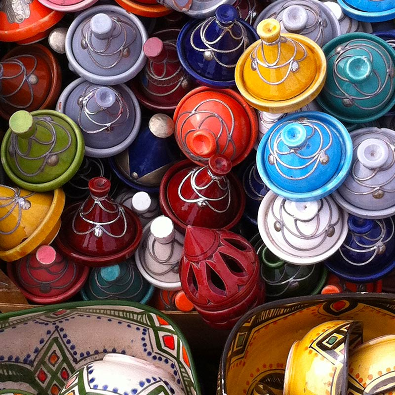 Marokkaans kleurrijk aardewerk