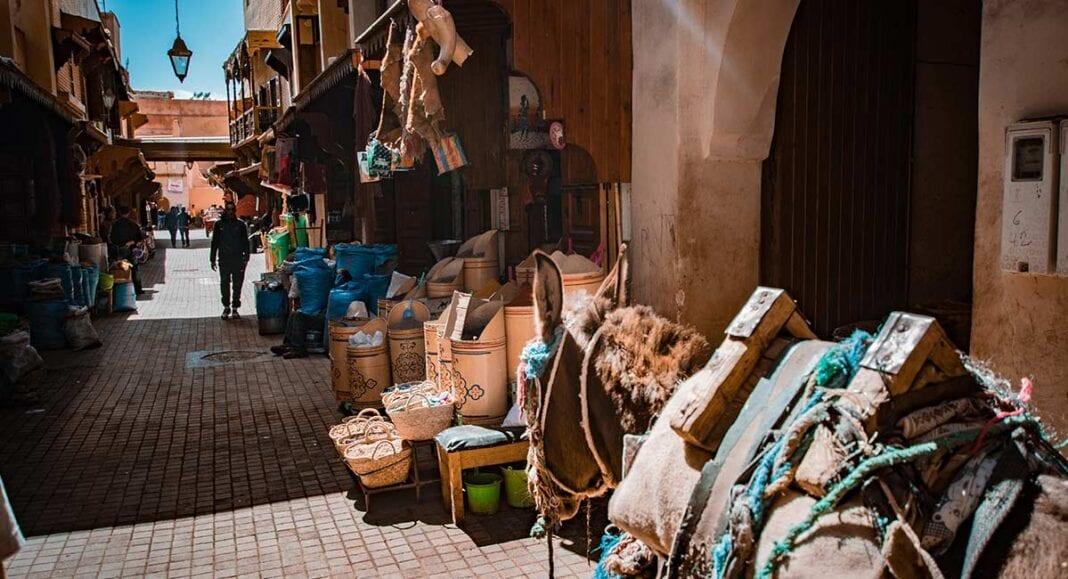 Straatje in Marrakesh in Marokko