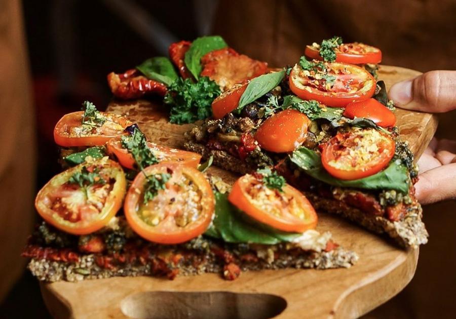Vegan gerecht bij The Seeds of Life in Ubud. Lekker vegan eten op Bali