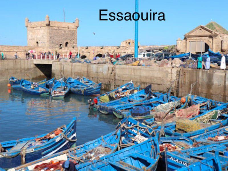Het haventje van Essaouira in Marokko