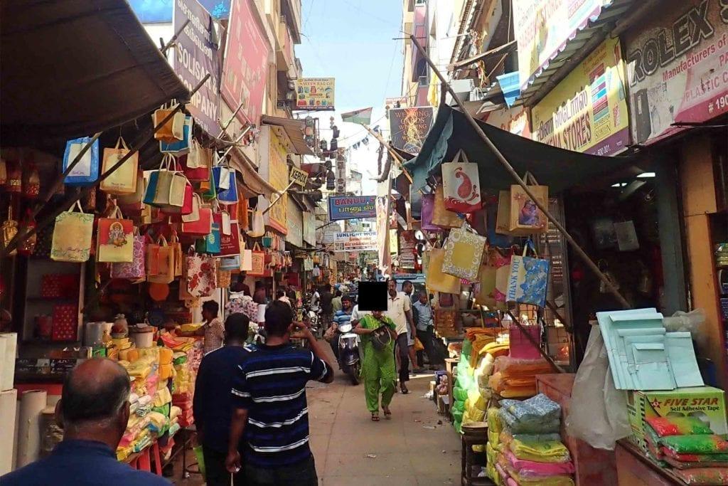 Marktje in Zuid-India