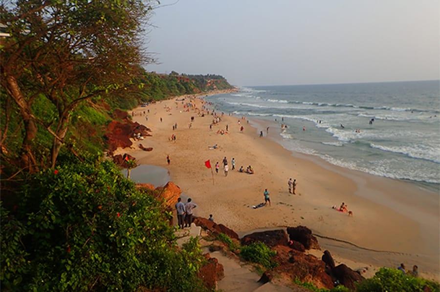 Strand in Zuid-India