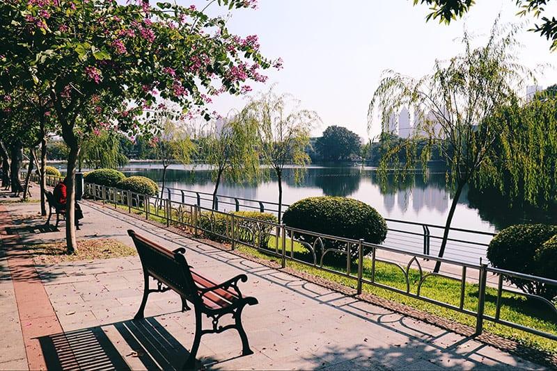een park in Guangzhou China