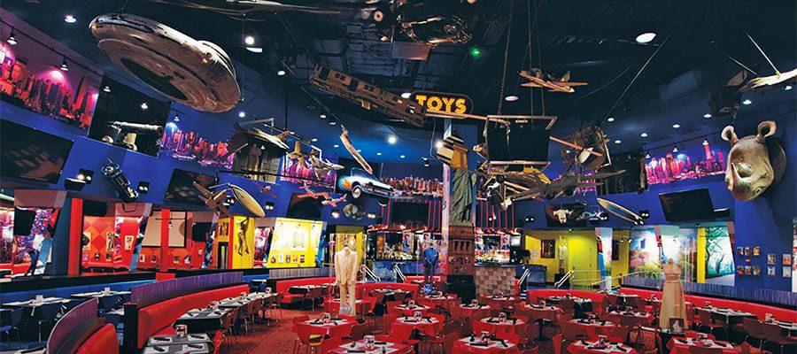 Bijzondere restaurants in New York\ Planet Hollywood