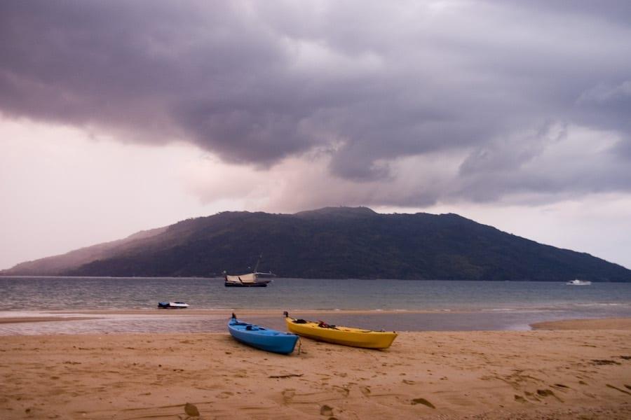 Onweer bij Madagaskar