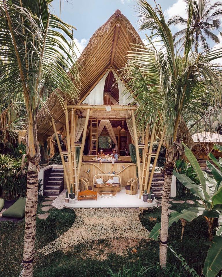 Absoluut een van de leukste hotes /op Bali: de bamboe hut van Camaya