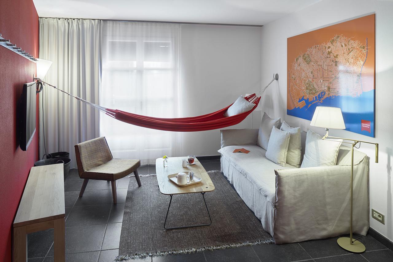 Hangmat in kamer Casa Camper Barcelona