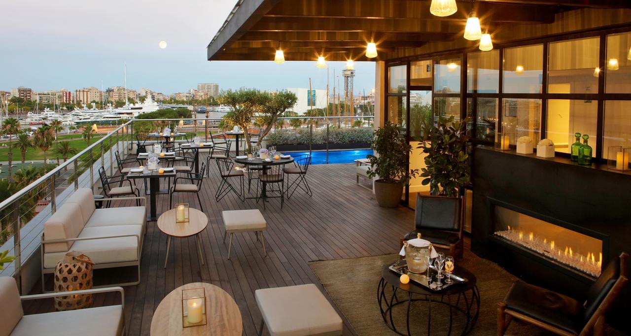 Een van de mooiste dakterrassen van de best beoordeelde hotels in Barcelona,  Hotel The Serras