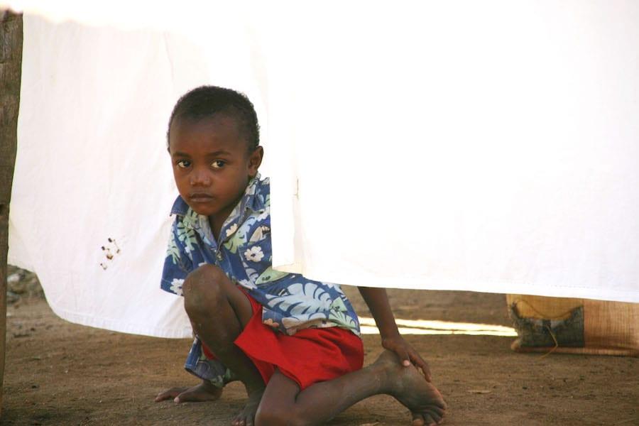 Kindje in Madagaskar