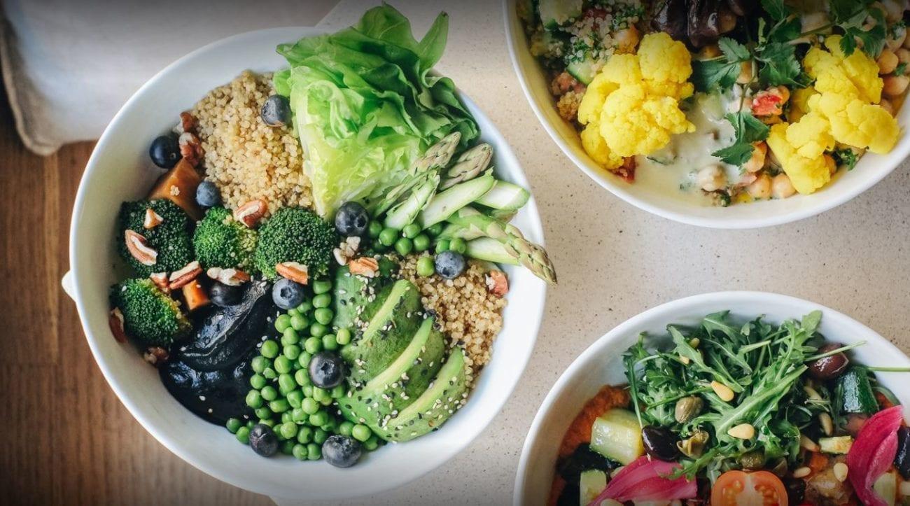 Salades bij Daluma voor lunchen in Berlijn