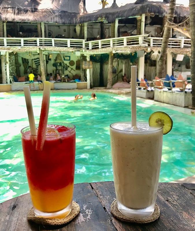 Cocktails bij La Brisa op Bali
