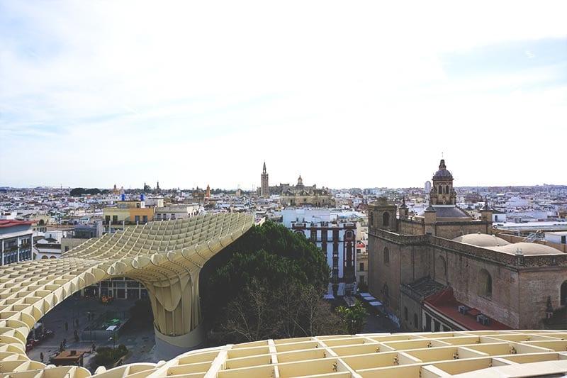 Uitzicht bij Metropol Parasol Sevilla